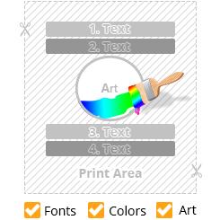 template-4-lines-text-with-medium-size-art-unique-color