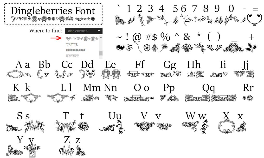special-fonts-mak-merch-dingleberries