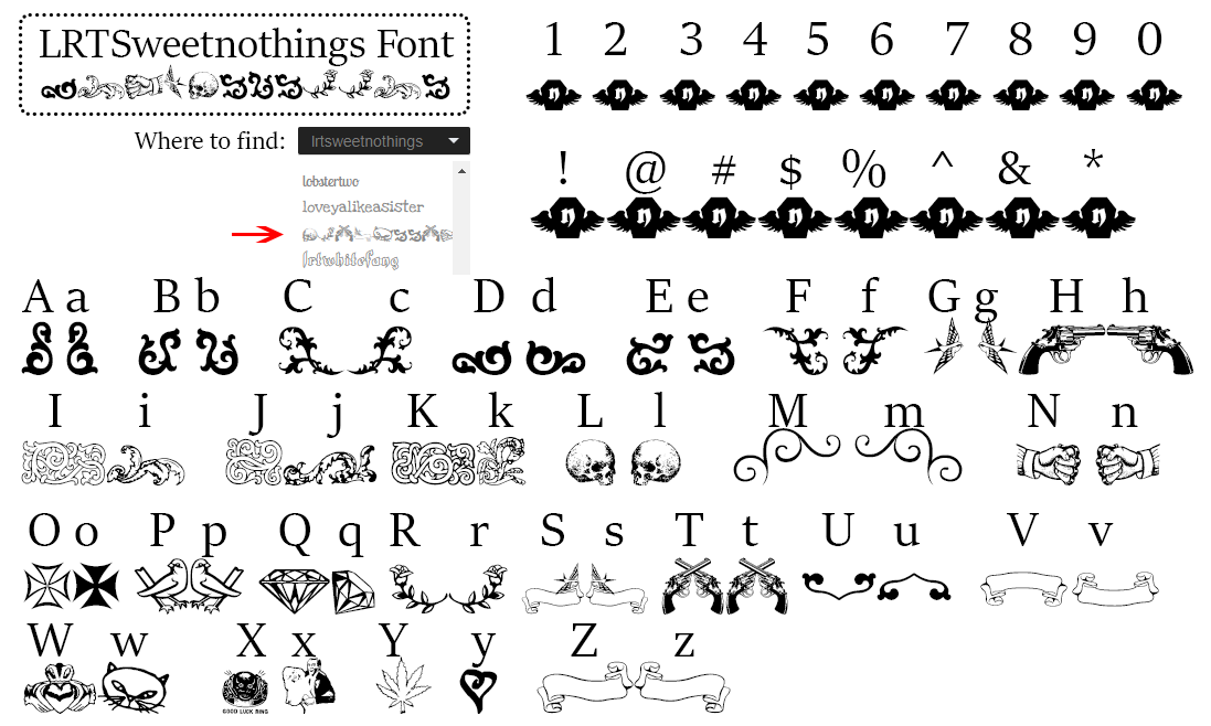special-fonts-mak-merch-lrtsweetnothings-font