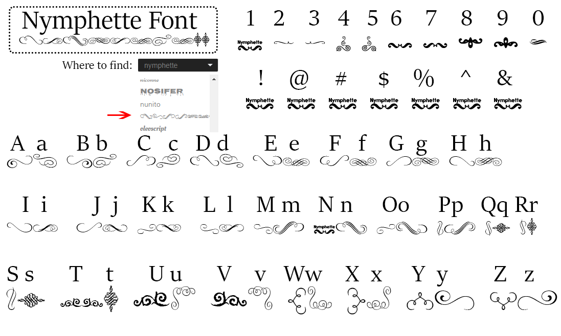 special-fonts-mak-merch-nymphette-font